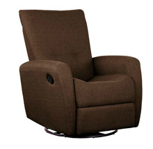 Shermag Cashmere Swivel Glider Recliner, Brown