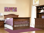 Bonavita Sheffield Full Size Bed Rail in Dark Walnut