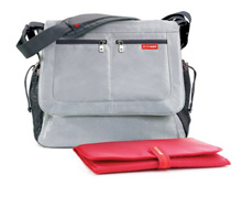 Skip Hop Via Messenger Platinum Diaper Bag