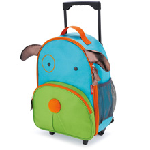 Skip Hop Zoo Luggage Little Kid Rolling Luggage, Dog