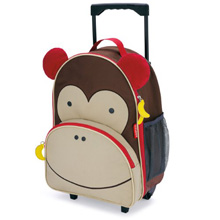 Skip Hop Zoo Luggage Little Kid Rolling Luggage, Monkey