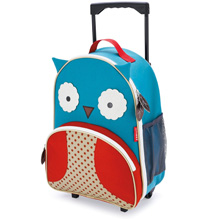 Skip Hop Zoo Luggage Little Kid Rolling Luggage, Owl