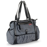 Skip Hop Studio Diaper Tote in Charcoal Dot