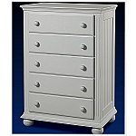Sorelle Vista 5 Drawer Chest in French White