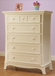 Sorelle Napa 5 Drawer Chest in French White