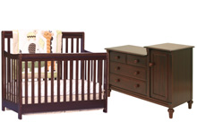Storkcraft Cadenza Crib & Laura Combo in Cherry