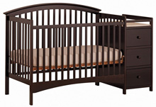 Storkcraft Bradford 4 in 1 Convertible Crib & Changer, Cherry