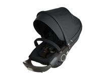 Stokke® Xplory® and Crusi Stroller Seat Textile Kit, Black