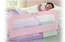 Summer Infant Sure&Secure® Deluxe Pink 'n Plush Single Bedrail, Pink