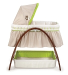Summer Infant Bentwood Bassinet with Motion Baby Time