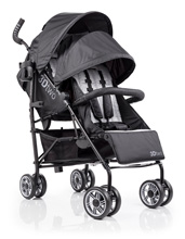Summer Infant 3Dtwo Double Convenience Stroller, Black