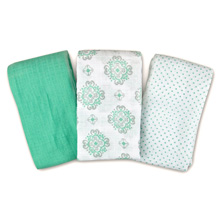 Summer Infant SwaddleMe® Muslin Blankets 3-PK - Ornate Geo