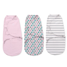 Summer Infant SwaddleMe® Original Swaddle 3 pk - Pink Whale, Pink Spot, Grey Stripe