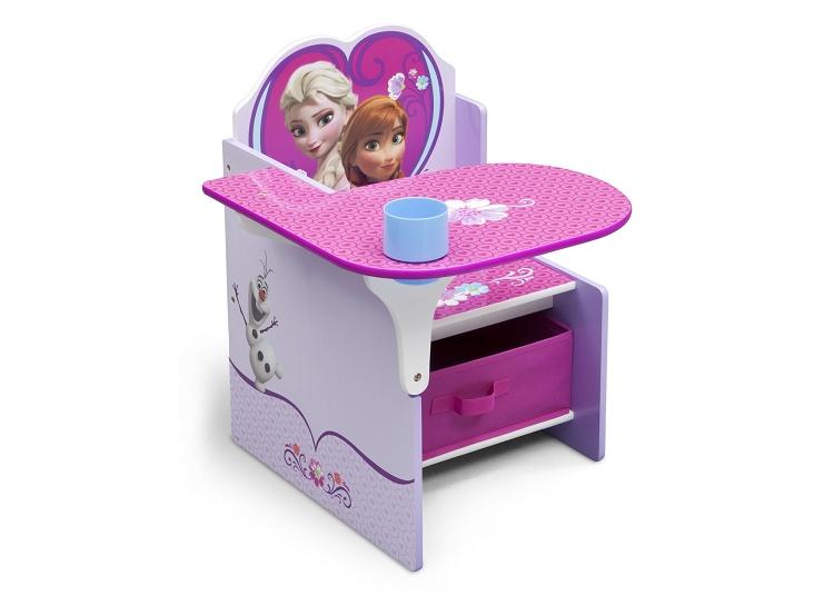 Delta Children Disney Frozen Chair Desk with Storage Bin
