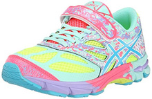 Asics 60% Off Noosa Tri 10 TS Running Shoes , Kids  - Yellow/Turquoise/Diva Pink