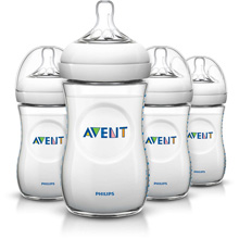Philips AVENT Natural 9oz Baby Bottles, Slow Flow Nipple, 1m+ - 4 Pack
