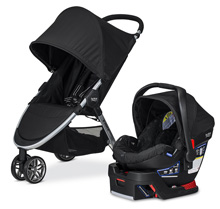 Britax 2016 B-Agile 3 / B-Safe 35 Travel System, Black