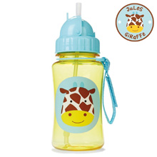 Skip Hop Zoo Straw Bottle, Giraffe