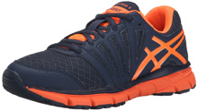 Asics GEL-Lyte33 Running Shoe, Kids - Deep Blue/Orange/Navy