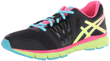 Asics GEL-Lyte33 Running Shoe, Kids - Black/Flash Yellow/Hot Pink