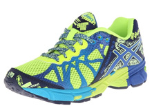 Asics GEL-Noosa Tri 9 GS Running Shoe , Kids - Flash Yellow/Royal/Navy