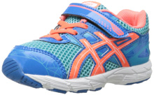 Asics GT 1000 3 TS Running Shoe, Toddler - Turquoise/Hot Coral/Blue