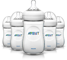 Philips AVENT Natural Baby Bottle, 9oz Slow Flow 1m+, 5 Pack