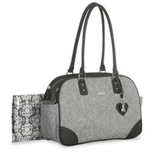 Little Me Lexington Duffel Style Nappy Bag, Grey Heather