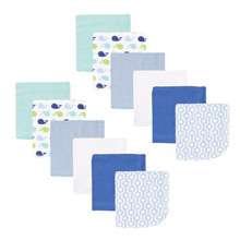 Luvable Friends Washcloth 12-Pack Boy Whale