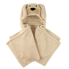 Hudson Baby Plush Hooded Blanket, Dog