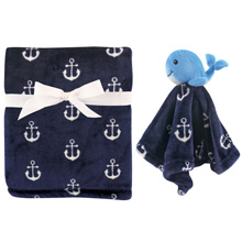 Hudson Baby Plush Blanket & Security Blanket - Whale