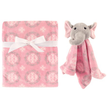 Hudson Baby Plush Blanket & Security Blanket - Girl Elephant