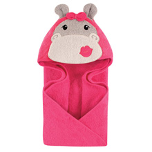 Hudson Baby Animal Hooded Towel - Hip Hippo