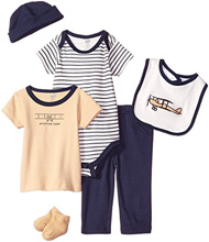 Baby Vision 6 Piece Airplane Layette Gift Set 6-9 Months