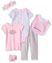 Baby Vision 6 Piece Princess Layette Gift Set 0-3 Months