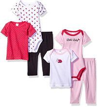 Baby Vision 6 Piece Mix & Match Ladybug Gift Set 0-3 Months