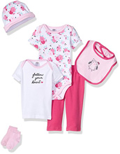 Hudson Baby Newborn Clothing 6-Piece Set Gift Set, Owl
