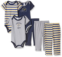 Hudson Baby 6 Piece Football Gift Set 0-9 Months