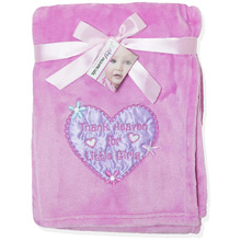 Baby Essentials Thank Heaven for Little Girls Plush Blanket