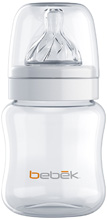 Bebek Baby Classic Bottle 150ml with Senseflo Silicone Nipple, Clear, 5 Ounce