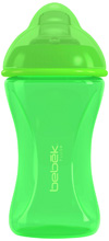 Bebek Baby Plus+ Soft Spout Cup With SenseFlo™ Silicone Spout, Lime