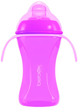 Bebek Baby Plus+ Soft Spout Cup with handles With SenseFlo™ Silicone Spout 8oz, Enchanted Princess