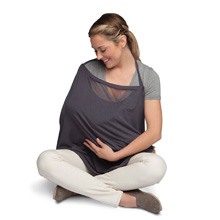 Boppy Infinity Nursing Scarf, Charcoal Gray