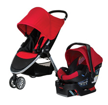 Britax 2016 B-Agile 3 / B-Safe 35 Travel System, Red