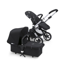 Bugaboo Buffalo Stroller Base Black/Aluminum, Black Bassinet
