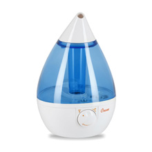 Crane Ultrasonic Cool Mist Humidifier, Blue and White
