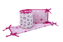 Hello Kitty Cute as Button Traditional Crib Bumper