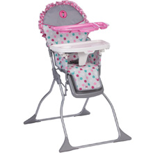 Disney Baby Simple Fold Plus Highchair, Minnie Dot Fun
