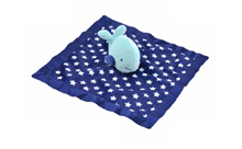 Cuddle  Whale Plush Security Blanket