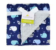 Cuddle Time Whale Plush Valboa Blanket